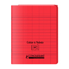 CAHIER A RABAT CONQUERANT CLASSIQUE AGRAFE 170X220 48P 90G SEYES ROUGE PP