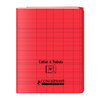 CAHIER A RABAT 170X220 96P 90G SEYES ROUGE PP