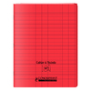 CAHIER A RABAT 240X320 48P 90G SEYES ROUGE PP