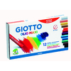 ETUI 12 PASTELS A L'HUILE GIOTTO Ø10MM ASSORTIS