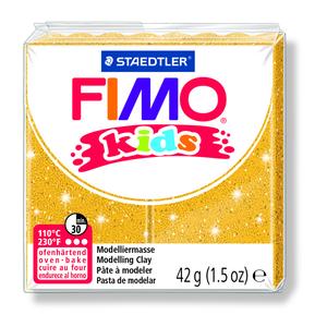 PATE A CUIRE FIMO KIDS PAIN DE 42 GR OR PAILLETE K753386